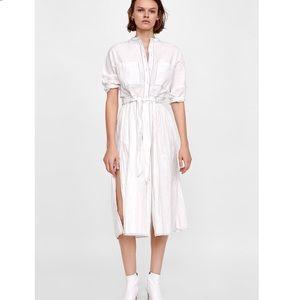 Zara wrinkle shirt dress